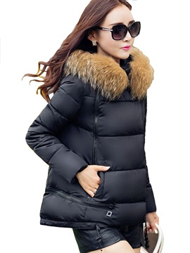 Stylish Multi Color Hooded Cotton Loose Overcoat