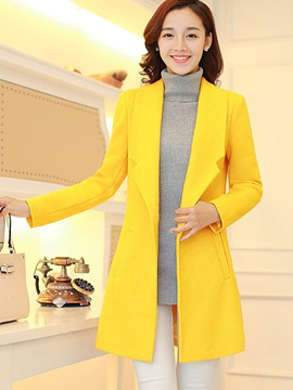 Stylish Multi Color Lapel Sim Overcoat
