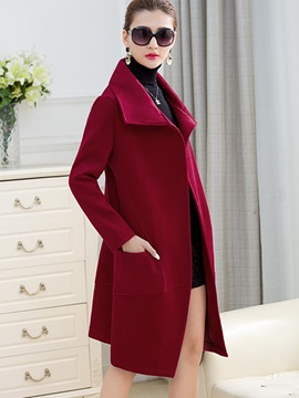 Cool Multi Color Lapel Loose Overcoat