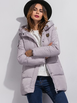 Stylish Appliques Loose Cotton Overcoat