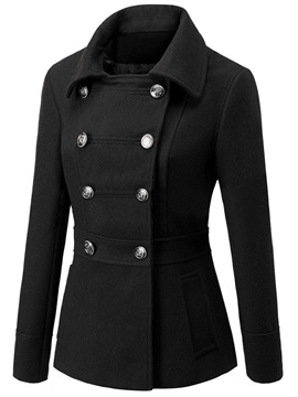 Stylish Double-Breasted Straight Slim Overcoat