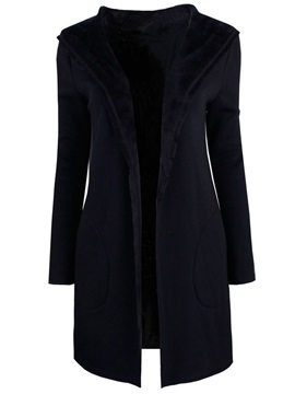 Stylish Pure Color Loose Overcoat