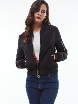 Stylish Slim Zipper Cotton Overcoat