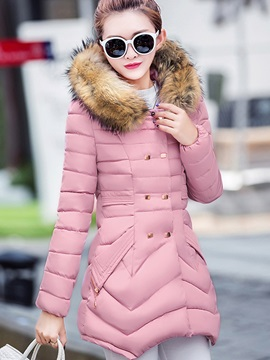 Stylish Double-Breasted Cotton Overcoat