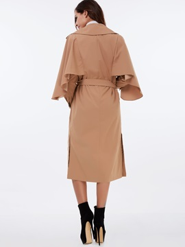 Stylish Belt Long Overcoat