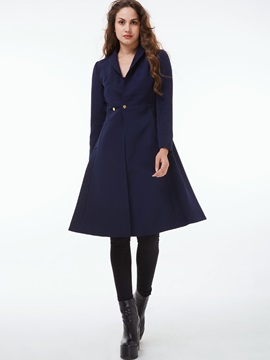 Stylish Button Peplum Overcoat