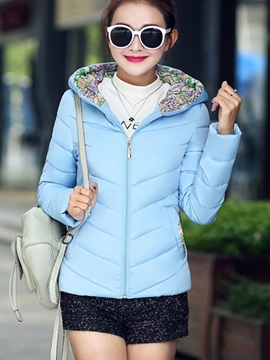 Stylish Pure Color Short Overcoat