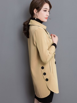 Chic Button Slim Overcoat