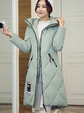 Stylish Hooded Long Cotton Overcoat