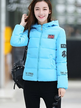 Stylish Imprint Sleeve Cotton Overcoat