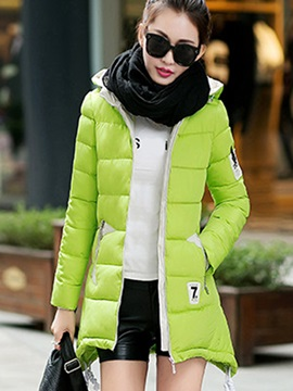 Stylish Color Block Pocket Overcoat