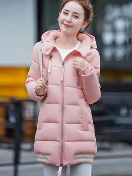 Chic Zipper Slim Cotton Overcoat