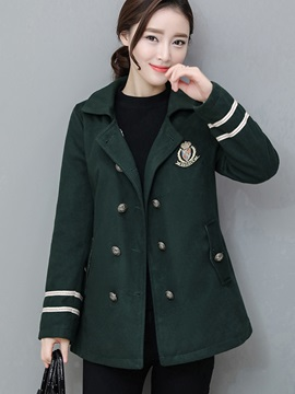 Chic Double-Breasted Mid-Length Overcoat