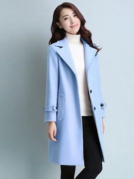 Chic Button Straight Overcoat