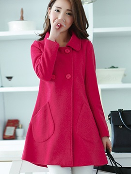 Chic Double-Breasted Loose Overcoat