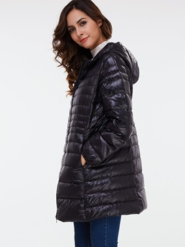 Chic Multi Color Mid-Length Overcoat