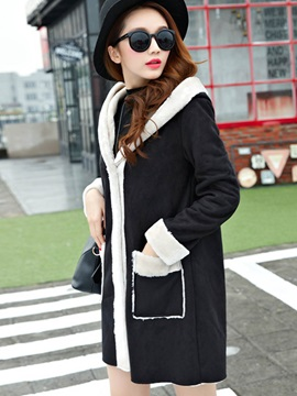 Stylish Pockets Thick Overcoat