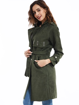 Stylish Notched Lapel Single-Breasted Overcoat