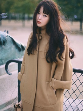 Stylish Loose Single-Breasted Overcoat