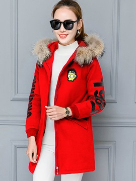 Stylish Cartoon Printed Loose Cotton Overcoat