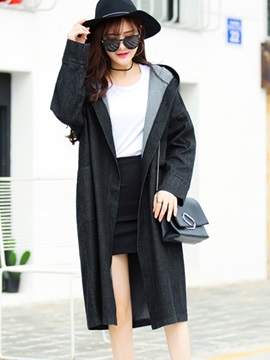 Stylish Casual Pure Color Loose Overcoat