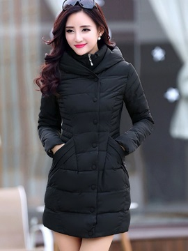 Stylish Single-Breasted Slim Cotton Overcoat