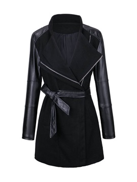 Stylish Wide-Lapel Side Zipper Overcoat