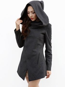 Women Hoodied Coat