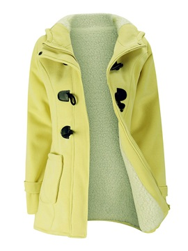 Winter Hooded Button Hooded Overcoat