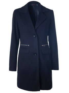 Plus Size Single Breasted Long Trench Coat
