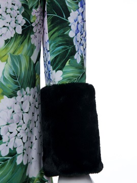 Single-Breasted Floral Women's Overcoat