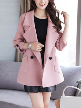 Long Sleeve Mid-Length Overcoat
