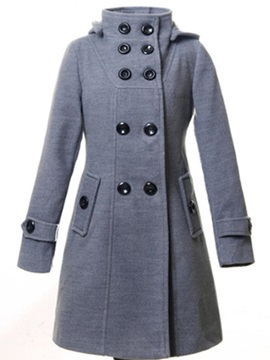 Winter Long Sleeve Double-Breasted Overcoat