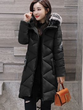 Long Sleeve Hooded Women's Overcoat