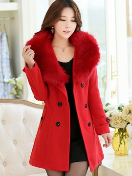 Long Sleeve Double-Breasted Winter Women's Overcoat