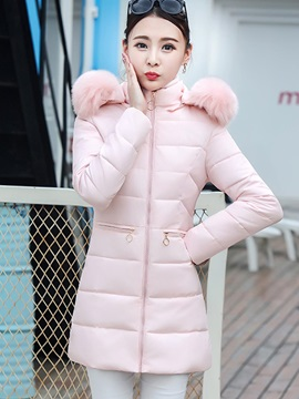 Long Sleeve Thick Zipper Overcoat