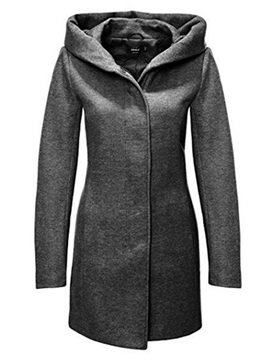 Hooded Single-breast Slim Women's Overcoat