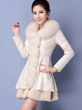 Long Sleeve Pu Winter Overcoat