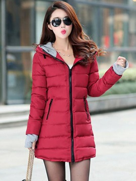 Multi Colors Hooded Mid-Length Women's Over Coat