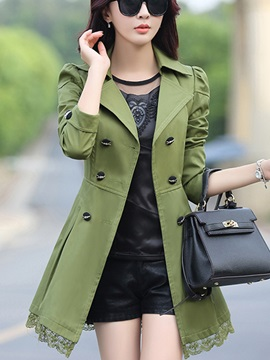 Long Sleeve Double-Breasted Winter Lapel Trench Coat