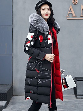 Loose Fur Thick Zipper Down Coat