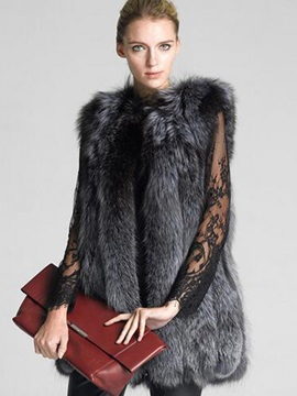 Tidebuy Faux Fur Sleeveless Women's Coat