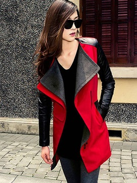 Cotton Lapel Slim Women's Overcoat