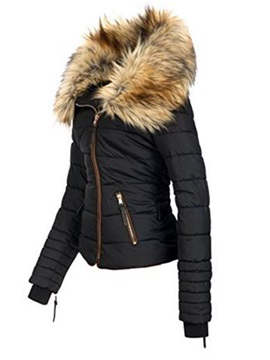 Tidebuy Short Faux Fur Women's Zipper Overcoat