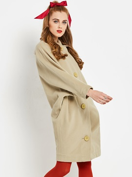 Long Sleeve Mid-Length Loose Women's Overcoat