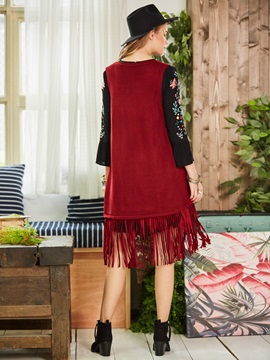 I Type Tassel V-Neck Women's Vest