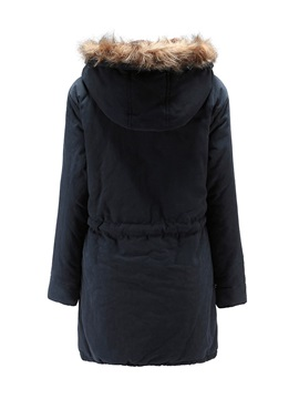Winter Hooded Thick Long Women's Cotton Overcoat