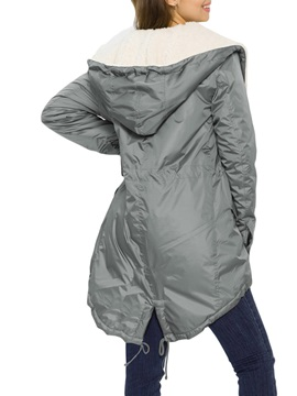 Asymmetric Thick Mid-Length Women's Cotton Padded Jacket