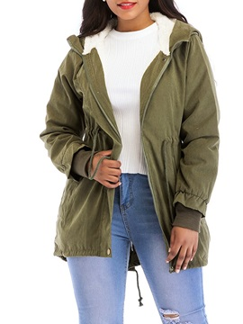 Loose Zipper Thick Mid-Length Women's Cotton Padded Coat