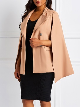OL Double-Breasted Pocket Mid-Length Women's Cape